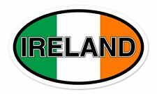 "Ireland Flag Oval car window bumper sticker decal 5"" x 3"""