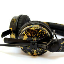 Custom Cans Black + Gold Sennheiser HD25 DJ Headphones with 2yr warranty