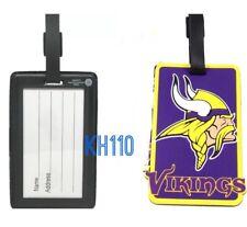 NFL Minnesota Vikings Soft Luggage Bag Tags /Gym bag / Golf bag