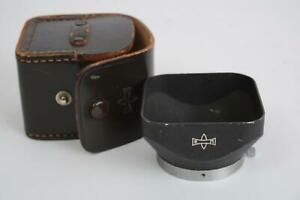 Mamiya metal lens hood 42mm clamp on, so it also fits many Leica lenses