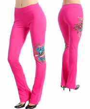 I80 -S/Small- Pink,Rhinestones,Tattoo,Roses & Heart,Pants
