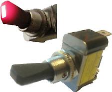 5 x ON OFF TOGGLE FLIP FLICK SWITCH WITH RED LED TIP 12V 30A CAR DASH LIGHT K864
