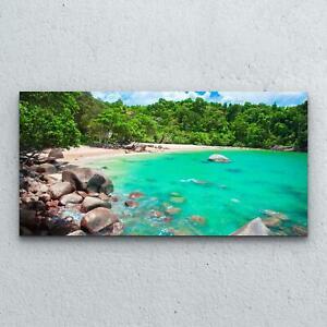 Tempered Glass Print Image Wall Art  100x50 Sandy Beach Landscape