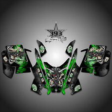 2010 - 2015 POLARIS PRO RMK - RUSH Decal Sticker Wrap Graphics Outlaw Green