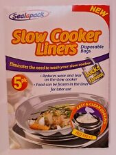 Slow Cooker Liners Pk of 5 For Round & Oval Slow Cookers No Mess Disposable Bags