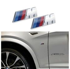 2x BMW M Power M Performance 3D Chrome Emblem Car Badge