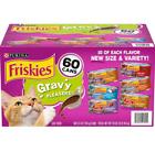 Purina Friskies Gravy Wet Cat Food, Variety Pack (5.5 oz., 60 ct.)