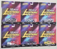 JOHNNY LIGHTNING TEAM LIGHTNING DIE-CAST METAL ROAD RODS SET OF SIX CARS