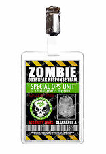 Zombie Outbreak Special ops unit ID Badge Cosplay Prop Comic Con Halloween