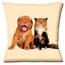 NUEVO Borgoña Cachorro Perro y gato estampado 40.6cm x 40.6cm Funda De Cojín