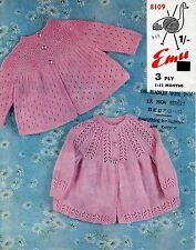 Baby Knitting Pattern 2 Gorgeous Lacy Style Matinee Jackets in 3 Ply