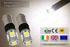 LED Ba9s T4W 233 Warm White 3500k Strobe Police Flash Bulbs Park Side Lights 12V