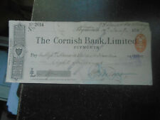More details for 1897 the cornish bank limited, plymouth, cheque, pay marrack