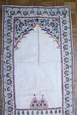 Mughal India Indian Islamic prayer cloth 35 x 55 inches silk on cotton c. 1800