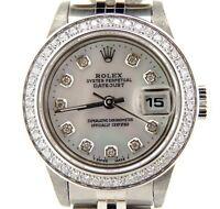 Rolex Datejust Lady Stainless Steel Watch Jubilee White MOP Diamond Dial & Bezel