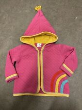 Hanna Andersson size 75 girls rainbow pink pixie hooded jacket zip-up