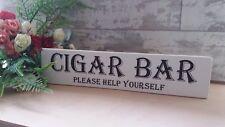En Bois Mariage Bar à cigares autoportante Signe Shabby Vintage Top table plaque
