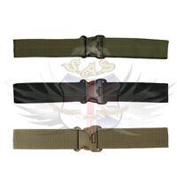 KOMBAT TACTICAL ADJUSTABLE NYLON SECURITY BELT,TAN,GREEN,BLACK,SPECIAL FORCES,SF