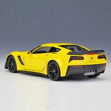 1:24 2017 Chevrolet Corvette Z06 Collectible Model Car Diecast Vehicle Yellow