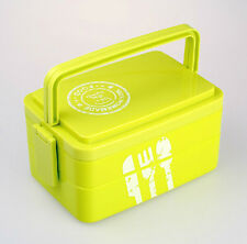 3 Tier Bento Lunch Box Food Container Picnic Lunchbox Storage w/ Handle Portable