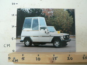 AF001-PHOTO FACTORY ? AND INFO MERCEDES-BENZ G-CLASS POPE MODEL SPECIAL PAUS