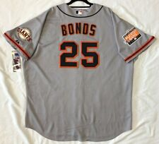 Authentic Majestic 60 4XL SAN FRANCISCO GIANTS BARRY BONDS GRAY ON FIELD Jersey