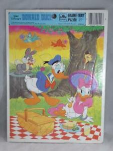 Golden Frame-Tray Puzzle Walt Disney's Donald Duck Vintage 1984 Daisy Duck