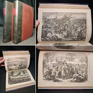 1871 CASSELL'S HISTORY OF THE WAR Franco-Prussian War ILLUSTRATED 2 vol MILITARY