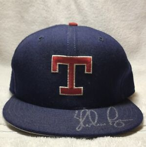 NOLAN RYAN TEXAS RANGERS SIGNED AUTOGRAPHED BASEBALL HAT CAP