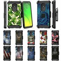 For Motorola Moto E5 Cruise / E5 Play Full Body Armor Holster Belt Clip Case