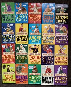 HORRIBLE HISTORIES 20 book box set BLOOD-Curdling Box Of Books Collection