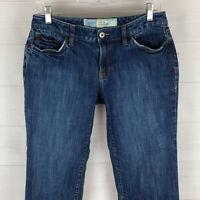 Ann Taylor LOFT womens size 6 stretch blue medium wash low rise curvy crop jeans