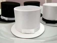 6 Black and White Top Hat Favor Boxes Wedding Gift Box Jewelry Box Little Man