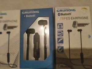 2  SETS OF  GRUNDIG   BLUETOOTH   STEREO   EARPHONES