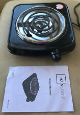 Mainstays Single Burner Portable Travel Electric Stove Coil Lightweight ME102-U2