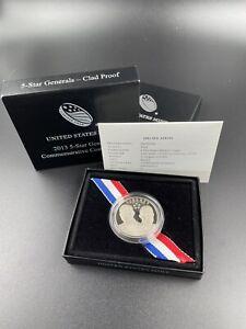 2013 P 5-Star Generals Commemorative Silver Half Dollar Proof Coin OGP Box & COA