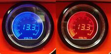 60 mm calibre 8-18 V Voltaje Coche Evo LCD Pantalla Digital Rojo Y Azul