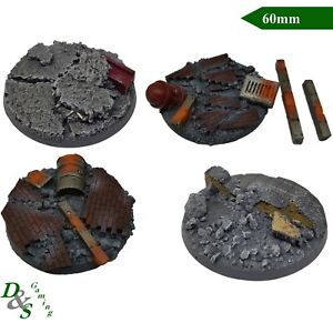 60mm Round Resin Dreadnought Monster Scenic Base Urban/Rubble ,WH40K,Mantic