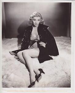 Rare Original Sexy Dolores Moran leggy pin up 8x10 photo Bert Six stamped