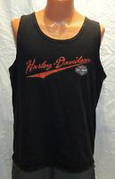 vtg WASHINGTON DC HARLEY DAVIDSON Black Tank Top XL 90s t-shirt fort maryland