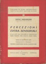 Percezioni extra - sensoriali. Traduzione dal tedesco di Giulio Cogni. Introduzi