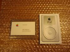 ****RARE APPLE***  iPOD CLASSIC BROCHURE WITH STEVE JOBS BUSINESS CARD