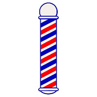 SCALPMASTER BARBER POLE CLING DECAL STICKER SC-9015