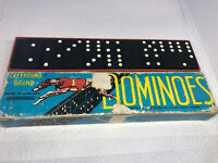 Vintage Greyhound Brand Dominoes Spear's Games England Complete 28 Pieces