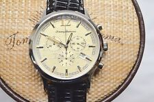 New $475 Tommy Bahama Steel Drum Chronograph 10011229/TB1239 Black Leather