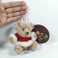 Harrods Knightsbridge Teddy Bear Christmas Winter Holder Coat Ribbin Plush Doll