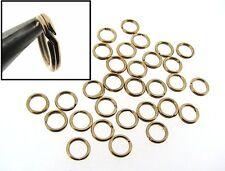 50 each 14k GOLD FILLED 6mm SPLIT JUMP RINGS