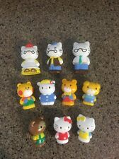 10 pcs Hello Kitty Collectible Sports Version Figures Doll Kids Cake Topper