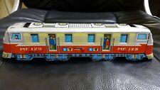 VINTAGE TRAIN ST-1 TIN TOY FRICTION TRAIN MF 129 RARE 70's ORIGINAL RED CHINA