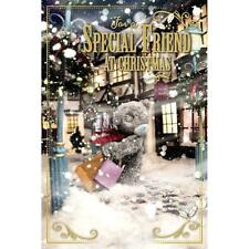 ME TO YOU FOR A SPECIAL FRIEND 3D HOLOGRAM CHRISTMAS CARD TATTY TEDDY BEAR